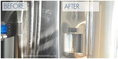 how to clean stainless steel, cleaning tips, There is a cleaning product that does THIS and the effect lasts about a week Stainless Steel Cleaner, Stainless Steel Refrigerator, Stainless Steel Appliances, Stainless Sink, House Cleaning Tips, Spring Cleaning, Cleaning Hacks, Cleaning Products, Soap Scum