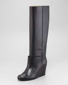 9badc904332 Jini Flat Leather Over-the-Knee Boot by Robert Clergerie at Neiman ...