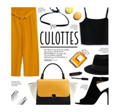 """Tricky Trend: Chic Culottes"" by federica-m ❤ liked on Polyvore featuring Zara, Chicwish, Tory Burch, Chicnova Fashion, Dinh Van, Maison Michel, Bobbi Brown Cosmetics, Chanel, TrickyTrend and ToryBurch"