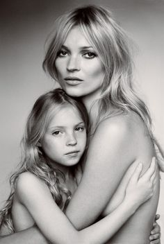 Kate Moss and daughter, Lila Grace, by Mario Testino for Vogue, Sept 2011