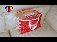 Bolsa necessaire em tecidos Laureen - Maria Adna Ateliê - Cursos e aulas de bolsas em tecidos - YouTube