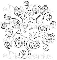 Little Miss Sunshine Digi Digital Stamp