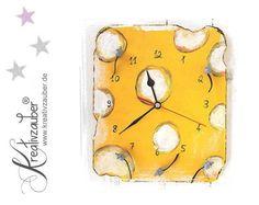 Basteln - Uhren Bastelset Käse-Mäuse - ein Designerstück von Kreativzauber bei DaWanda