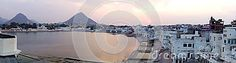Photo about This is an aerial panoramic shot of Pushkar lake Rajasthan India during a dramatic sunset. Image of shot, pilgrimage, morning - 70733764 Rajasthan India, Opera House, Clouds, Stock Photos, Sunset, Beach, Water, Travel, Outdoor
