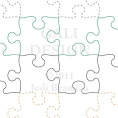 """Puzzled - 4"""" - Quilts Complete - Continuous Line Quilting Patterns"""