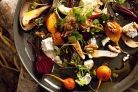 Valli Little's beetroot, pear and feta salad creates the flavours and colours of autumn.