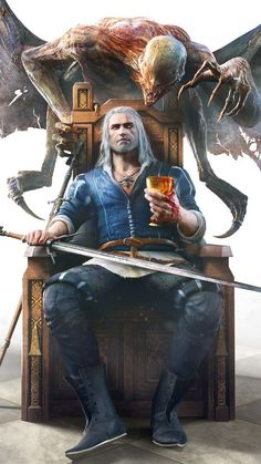 Video Game, The Witcher Wild Hunt, The Witcher Mobile Wallpaper Fantasy Characters, Witcher Art, Character Design, Character Art, Game Art, Geralt Of Rivia, Witcher Tattoo, The Witcher Game, Dark Fantasy Art