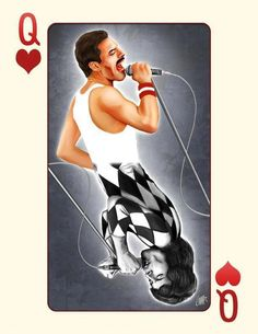 Freddie Mercury, Queen.                                                                                                                                                                                 More