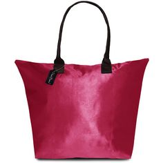 Peach Couture Kylie Solid Fuchsia (Pink) Plage a Main Waterproof Tote... ($20) ❤ liked on Polyvore featuring bags, handbags, tote bags, pink, zippered beach tote, purple tote bag, beach tote, waterproof tote bag and tote handbags