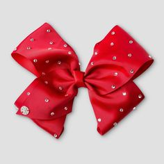 Girls' JoJo Siwa Rhinestone Bow Hair Clip - Red, Girl's