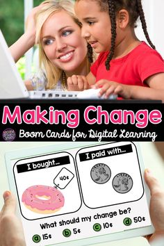 Do your students need practice making change? Check out these interactive self checking digital Boom Cards! Great for 2nd grade or third grade distance learning math!