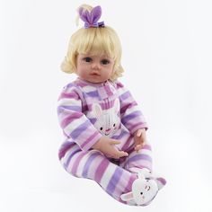 (205.22$)  Watch now - http://airma.worlditems.win/all/product.php?id=32800908705 - 55cm Cotton Cartoon Reborn Baby Dolls for Girls Realistic Lifelike Doll Christmas Gifts Bedtime Toys Doll Fashion Lovely