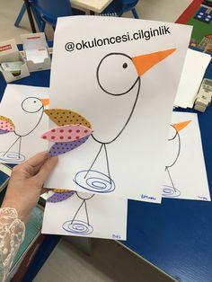 9 rakamından leylek instagram okuloncesi.cilginlik başak ünlüer özberk Number Crafts, Preschool Themes, Activities For Kids, Primary School, Pre School, Spring Art, Teaching Drawing, Working With Children, Fun Math