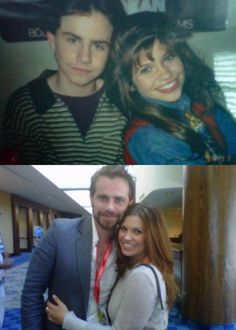 Shawn (Rider Strong) and Topanga (Danielle Fishel) then and now!