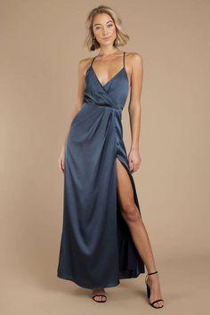 V-Ausschnitt Kleid Maxikleid Sommerkleid A-Linie Kleid Knopfdekoration Schlank