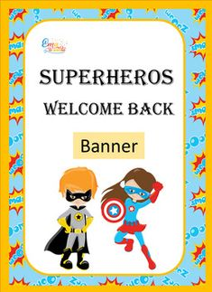 Welcome Banner Superhero Theme Spanish Teaching Resources, School Resources, Teaching Ideas, Back To School Activities, Classroom Activities, Classroom Decor, New School Year, School Fun, Welcome Back Banner
