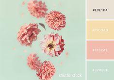 20 Pastel Color Palettes to Get the Rococo Art Look — Fallen Petals Color Schemes Colour Palettes, Pastel Colour Palette, Blue Palette, Colour Pallette, Pastel Colors, Color Combinations, Color Amarillo Pastel, Flying Flowers, Color Harmony