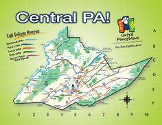 Centre County Fall Foliage Routes Map #FallinPA