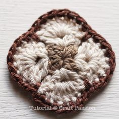 Crochet | African Flower Purse | Free Pattern & Tutorial at CraftPassion.com