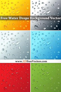 Free Water Drops Background Vector All Free Vector, Vector Free Download, Free Vector Graphics, Vintage Floral Backgrounds, Free Vector Backgrounds, Abstract Backgrounds, Background Patterns, Background Designs, Underwater Background
