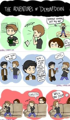 The adventures of Demon!Dean Fan Art :) Okay, something to lighten the withering pain and ZOMGWTF feelings