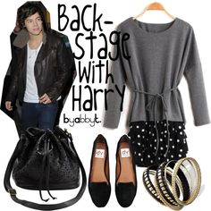 """""""Backstage with Harry"""" by abbytamase on Polyvore"""