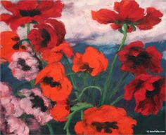 Large Poppies - Emil Nolde, 1942