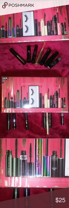 7 Mini Travel Mascara Sephora Lashstash NWOT brand new never used mini mascara from the Sephora Favorites Laststash bundle. I'm selling the full sizes that it comes with seperately.   A multibranded mascara set with seven deluxe-size mascaras. Stretch, volumize, and enhance lashes with this wardrobe of nine deluxe mascaras, featuring wands that curl, lift, and define.  Includes: Kevyn Aucoin Beauty The Expert, Dior Diorshow, Yves Saint Laurent The Shock, Lancôme Monsieur, Clinique High…