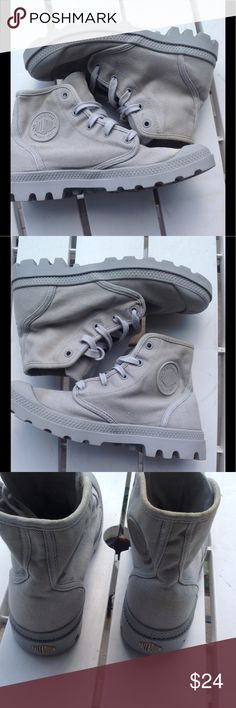 Palladium canvas boots Combat boot style canvas boots, comfort, and sturdy.  Lightweight and washable. Palladium Shoes Combat & Moto Boots