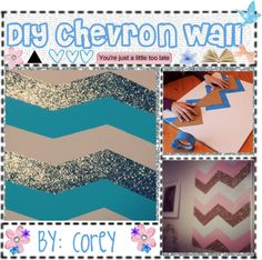 """""""DIY Chevron Glitter Canvas!"""" by totally-tipsy-girls ❤ liked on Polyvore"""