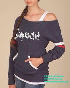 Jeep Chick. Ladies Alternative Scoopneck by DropALineDesignsToo