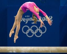 Nastia Liukin during the 2008 women's individual all-around final during the Beijing Olympics. Balance beam was the second-to-last event.