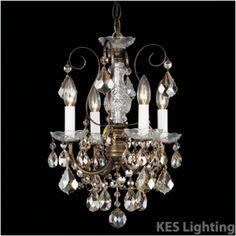 Schonbek New Orleans 4 Light Crystal Chandelier 3648