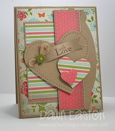 With Love by TreasureOiler - Cards and Paper Crafts at Splitcoaststampers Cute Cards, Diy Cards, Your Cards, Valentine Love Cards, Karten Diy, Card Sketches, Copics, Anniversary Cards, Happy Anniversary