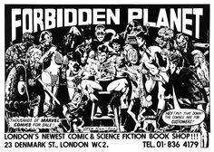 Old Forbidden Planet advertisement