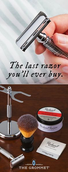 Here's the last razor you'll ever buy. The Made for a Lifetime, double-edged, stainless steel blades cut clean, angle to your face, and have a buffer for added protection. This makes a great gift for him.