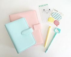 Macaroon Planner Free Shipping - A5 Size - Cover only by PapergeekCo on Etsy https://www.etsy.com/listing/233252927/macaroon-planner-free-shipping-a5-size