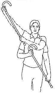 exercises - Shoulder - Cane Majorette - Standing