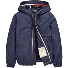 Tommy Hilfiger Hooded Jacket ($67) ❤ liked on Polyvore featuring outerwear, jackets and tommy hilfiger