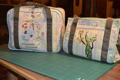 I made a machine bag for my Bernina Artista and another bag for all my sewing essentials