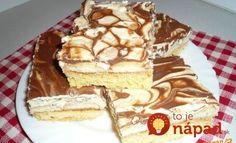 Prudko návykový Salko koláč dvoch farieb: Úžasný dezert ku káve, lepší krém nenájdete! Russian Recipes, Cake Cookies, No Bake Cake, Tiramisu, Waffles, Food And Drink, Sweets, Baking, Breakfast