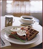 Pumpernickel Waffles - Mashed potatoes in the batter give these waffles a soft, chewy texture.