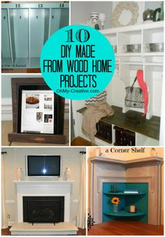 10 DIY Made From Wood Home Projects  |  OHMY-CREATIVIE.COM