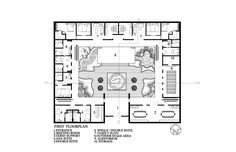 chinese courtyard house plans - Google Search