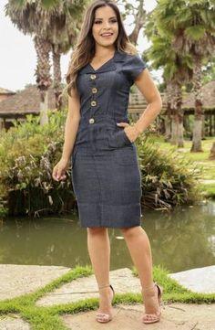 04d4ff222d Vestido Executiva Neocrepe com elastano