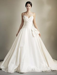 eve of milady spring 2013 strapless ball gown wedding dress (I'm surprised I like this... usually this would be too simple for my liking)