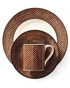 Ethan Herringbone dinnerware by Ralph Lauren Home