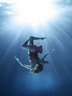 People Under Water Photography