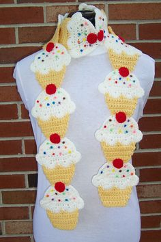 CROCHET Couture Cupcake Scarf PATTERN by FiercePixyBoutique  -- i pinned this here bcus i know One lady could SOOOO make this....