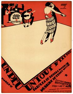 Vintage sheet music cover by Peter de Greef, 1924